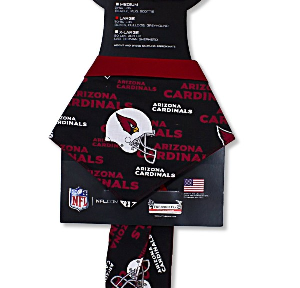 In Dog We Trust 50 to 80-Pound Dogs Arizona Cardinals Bandana - 1