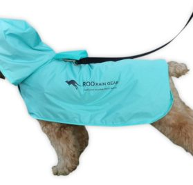 Roo Rain Gear Dog Recycled Plastic Bottle Packable Rain Poncho - 1