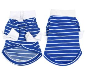 Blue Striped Chihuahua Pet Doggie Dog Shirts Clothes Apparel Size S - 1