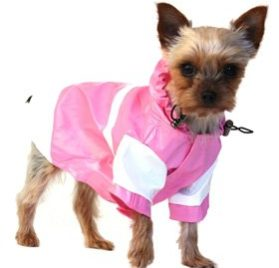 "UrbanPup Candy Pink Raincoat (Small - Dog Body Length: 10"" / 25cm) - 3"