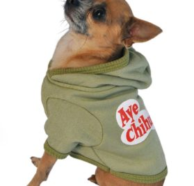 Ruff Ruff and Meow Dog Hoodie, Aye Chihuahua, Green, Medium - 3
