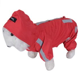 Red Pet Dog Rain Slicker Raincoat Neckline: Approx. 14 inch / 35.5cm - 6