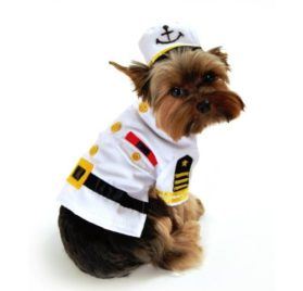 Sea Captain Dog Costume Size: X-Small