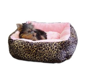 Soft Plush Leopard Pet bed