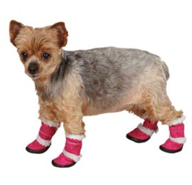 ESC Sherpa Dog Boot - Raspberry-1