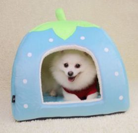 SKL Cotton & Cashmere Strawberry Style Dog Cat House 4 Sizes for Small or Middle pets-4