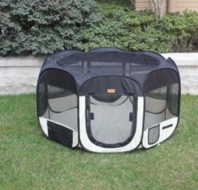 New Black As Seen On TV Pet Dog Cat Tent Playpen Exercise Play Pen Soft Crate S-1