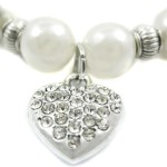 Alfie Couture Designer Pet Jewelry - Zoe Crystal Heart Pearl Necklace for Dogs and Cats-6