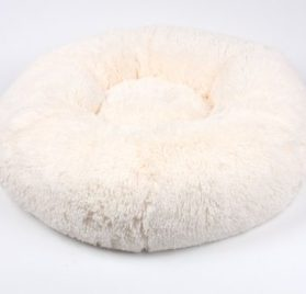 Powder Puff Pet Round Bed by Susan Lanci Designs