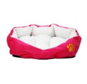Berber Fleece Pet Dog Bed or Sofa Rose-carmine