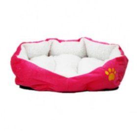Berber Fleece Pet Dog Bed or Sofa Rose-carmine