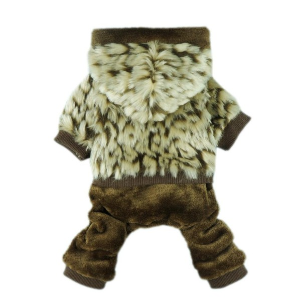 fitwarm luxury faux furred thick winter pet dog hooded coat clothes