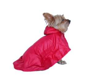 Anima Red Water Resistant Nylon Windbreaker Rain Coat, X-Small - 1