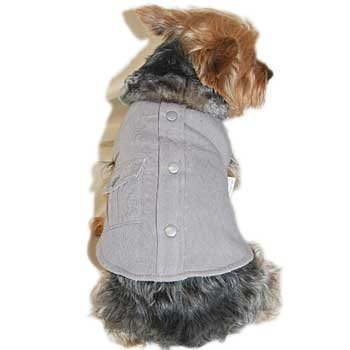 Anima Grey Faux Fur Collar Cotton Coat, Velcro Closure, X-Small - 1