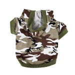 Army Green Camouflage Hoodie Pet Dog Clothes Camo Sweatshirt-XS Size - 1