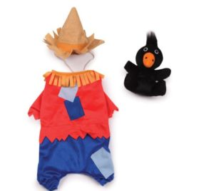 Zack & Zoey Scarecrow Pet Costume - Red - 1