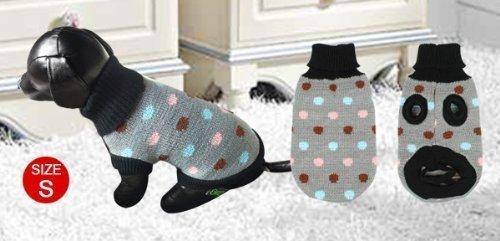 Gray Pet Dog Yorkie Apparel Turtlneck Sweater Knitted Winter Coat XS - 2