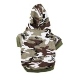 Army Green Camouflage Hoodie Pet Dog Clothes Camo Sweatshirt-XS Size - 2