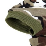 Army Green Camouflage Hoodie Pet Dog Clothes Camo Sweatshirt-XS Size - 3