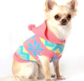 "UrbanPup Alpine Hooded Sweater (X-Small - Dog Body Length: 8"" / 20cm) - 3"