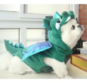 Alfie Couture Designer Pet Apparel - Smokie the Dragon Dinosaur Costume - 4