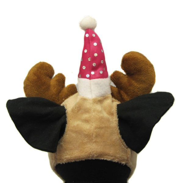 Alfie Pet by Petoga Couture - Qeno Deer Hat Party Costume (for Small Dogs & Cats) - Color: Brown - 4