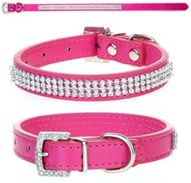 Eforcity8 Dog Puppy Collar Diamante Stones