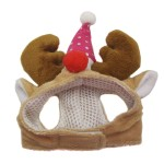 Alfie Pet by Petoga Couture - Qeno Deer Hat Party Costume (for Small Dogs & Cats) - Color: Brown - 5
