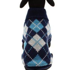"UrbanPup Blue Argyle Sweater (Small - Dog Body Length: 10"" / 25cm) - 6"