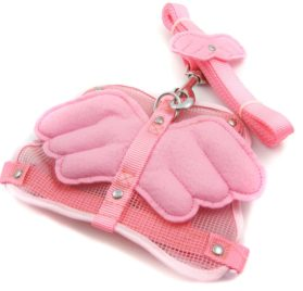Alfie Couture Designer Pet Accessory - Angel Wing Harness with Leash
