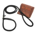 Avery Adjustable Slip Leash with Microfiber Fast-Dry Washcloth Black