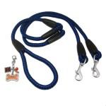 Alfie Pet by Petoga Couture - Harper Dual Leash with Photo Charm Keychain Set
