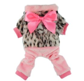 Fitwarm Pink Princess Ribbon Pet Clothes for Dog Winter Coats Hoodies Apparel-1