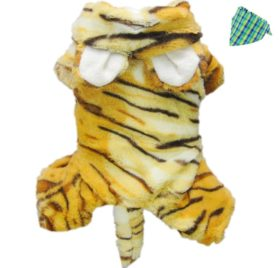 Petparty Cute Tiger Costumes for Dog Clothes Pet Dog Jumpsuit Coat-1