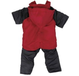Casual Canine Nylon Dog Snowsuit, X-Small, 8-Inch, Red-2