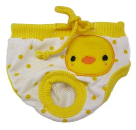 Alfie Pet Apparel - Zoe Diaper Dog Sanitary Pantie - Color: Yellow (for Girl Dogs)-1