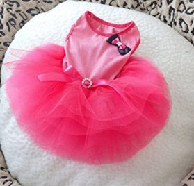 ONOR-Tech Lovely Cute Doggy Apparel Clothes Pet Puppy Dog Cat Bow Tutu Princess Dress Wedding Party Dress-1