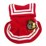 Alfie Couture Designer Pet Apparel - Fran Sailor Dress - Color: Red-6