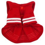 Alfie Couture Designer Pet Apparel - Fran Sailor Dress - Color: Red-7