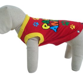 UP Collection Party Animal Tank Top for Dogs, Red-1