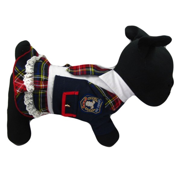 Alfie Couture Designer Pet Apparel - Ume School Uniform Flannel Dress-1