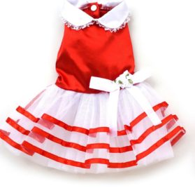 eSingyo Pet Cat Dog Satin Stripes Princess TUTU Dress Skirt Cat Puppy Small Girl Dog Clothes XS S M L XL-1