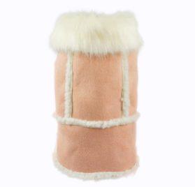 Fitwarm Pink Faux Suede Fleece Pet Coat for Dog Winter Clothes Warm Jacket-1