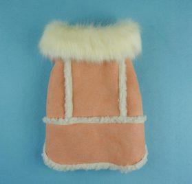Fitwarm Pink Faux Suede Fleece Pet Coat for Dog Winter Clothes Warm Jacket-2
