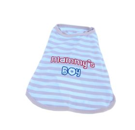 Anima Poly Cotton Blend Tan and White Stripe Mommy's Boy Tank Top, XX-Small-2