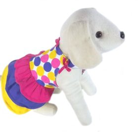 UP Collection The Circles and Bow Dress for Dogs, XX-Small-1