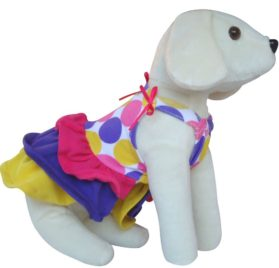 UP Collection The Circles and Bow Dress for Dogs, XX-Small-2