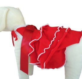 UP Collection The Dog Dress, Red, X-Small-2