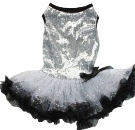 Silver Sparkle Petti Dress for Dogs
