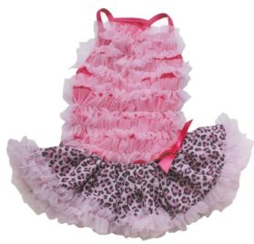 Pink / Leopard Ruffle Petti Dress for Dogs
